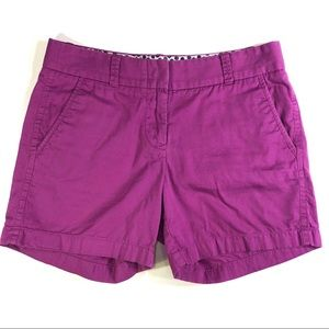 J. Crew Factory Chino Purple Trouser Shorts